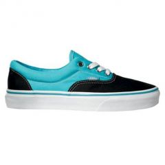 vans era black peacock blue bleu