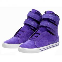 SOCIETY purple cheetah white SUPRA GIRL