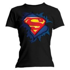 superman Tshirt noir