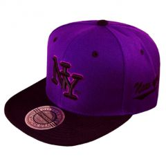 casquette city hunter noir violet