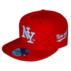casquette city hunter rouge bleu