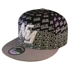 casquette city hunter noir gris