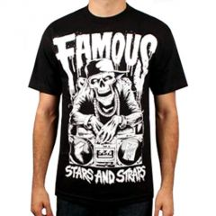 TSHIRT FAMOUS DROPPING BEAT NOIR