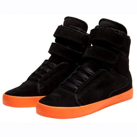 SUPRA SOCIETY NOIR ORANGE 1