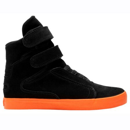 SUPRA SOCIETY NOIR ORANGE 2